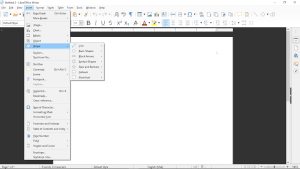 Menu of LibreOffice