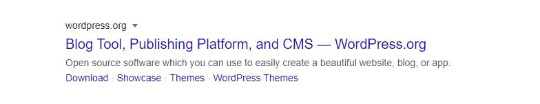 WordPress Google SERP snippet