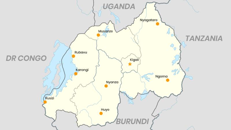 Touristic cities of Rwanda