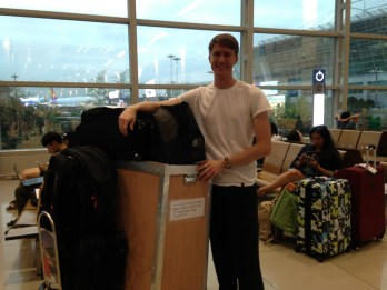 Made it to Korea after a long day of traveling with all of my stuff!