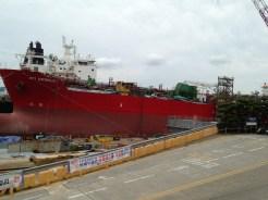 The Hyundai Heavy Industries shipyard, on the way to Ilsan beach.