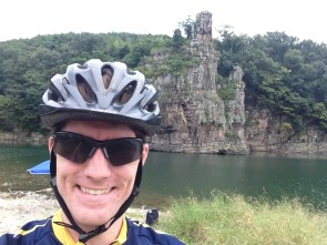 """Biked past """"Standing Rock"""" on my most recent ride around Ulsan."""