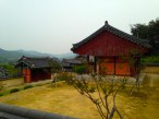 Hiking up Buyeongdae Cliff.
