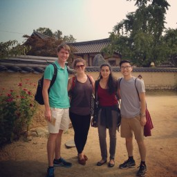 Group shot in a traditional Hanok village!
