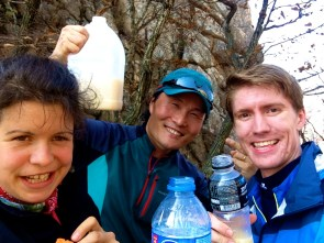 This guy shared his rice wine with us halfway through the day!