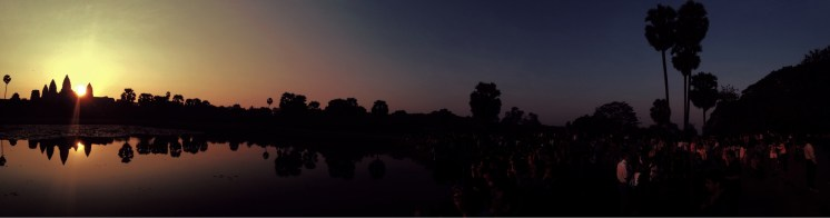 The masses at Angkor Wat for sunrise