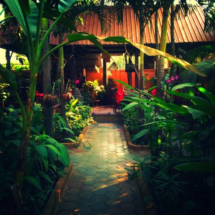 Courtyard of the Golden Mango Inn - Siem Reap