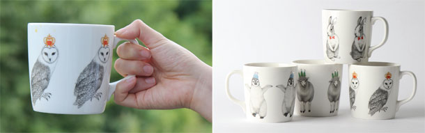 Animal-Illustration-Mugs-with-Swarovski-Ornament