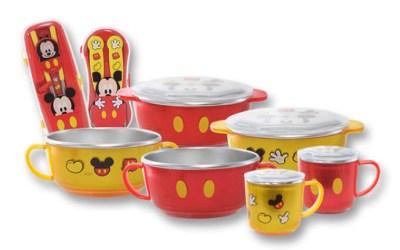 Non-Slip Stainless Tableware for Kids