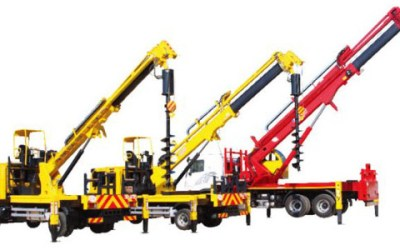 Auger Equipment and Hydraulic Crane
