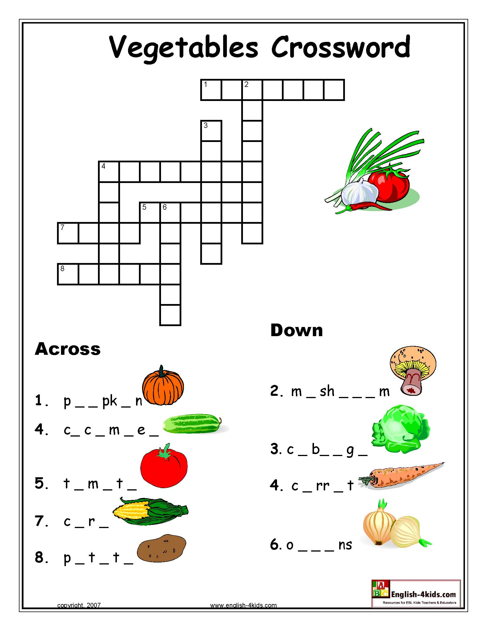 Identifying Fruits And Vegetables Worksheet