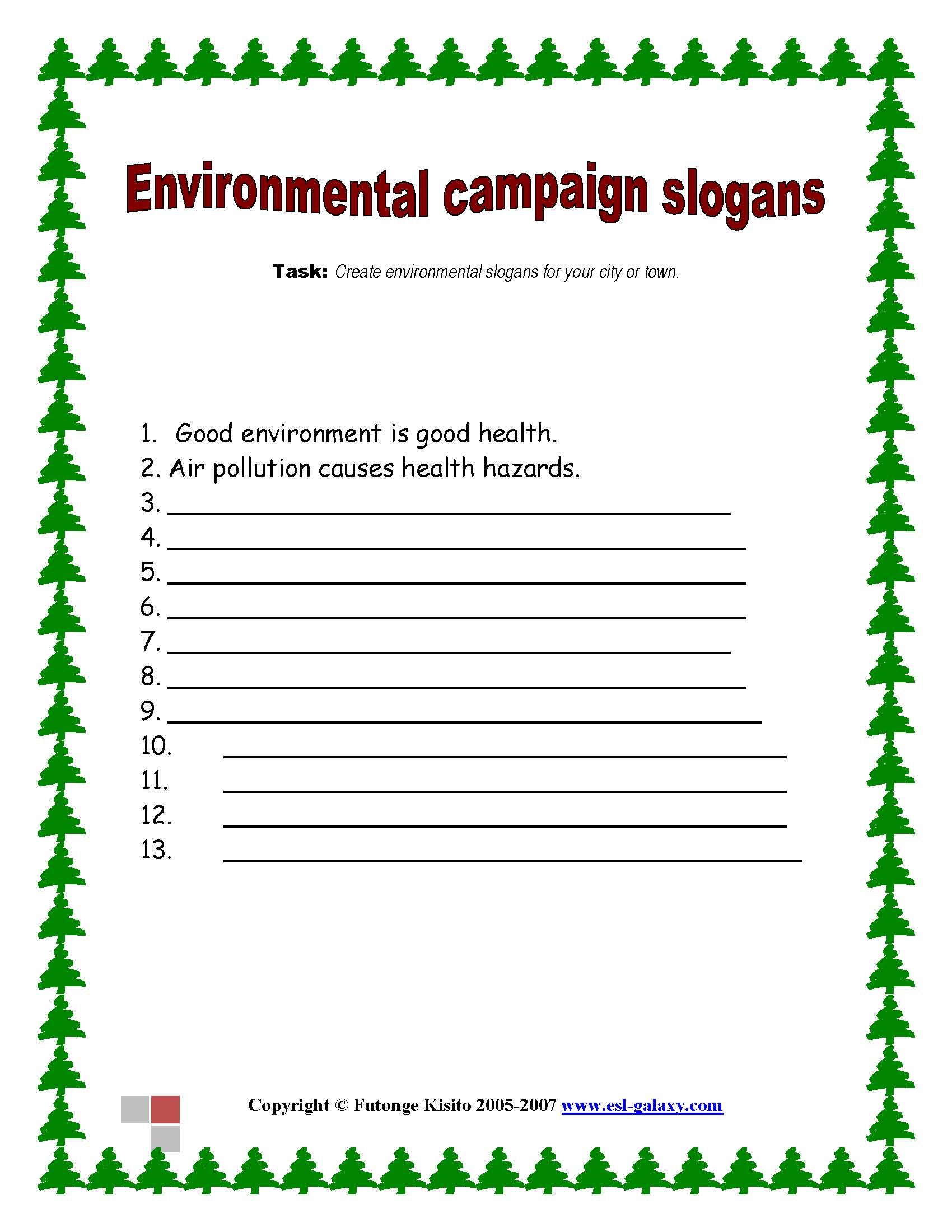 Environmental Campaign Slogans