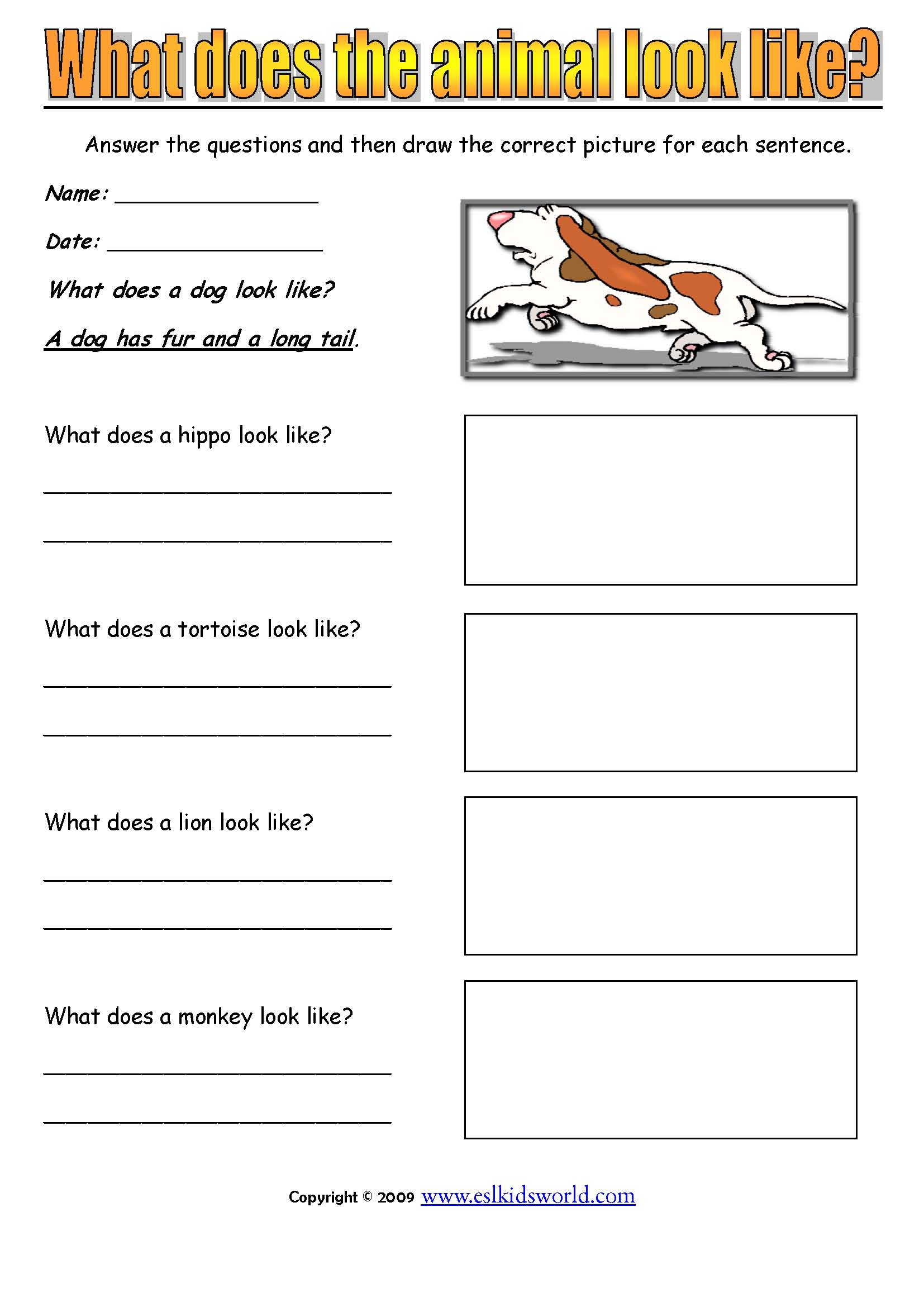 Dog Detective For Worksheet