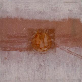 Francesca Cho: Family, 2001. Oil & mixed media on canvas, 52x52cm