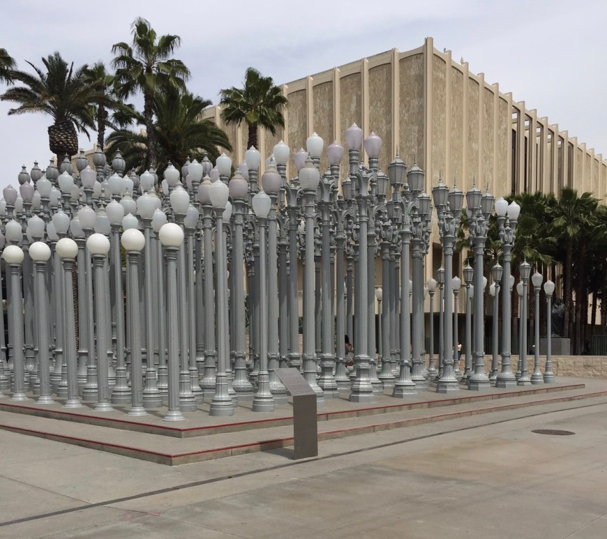 Visiting The Los Angeles County Museum Of Art, LACMA Lights, Los Angeles