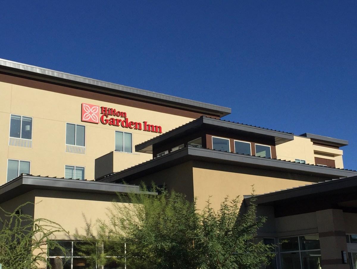 Phoenix Arizona, Hilton Garden Inn Hotel Sign