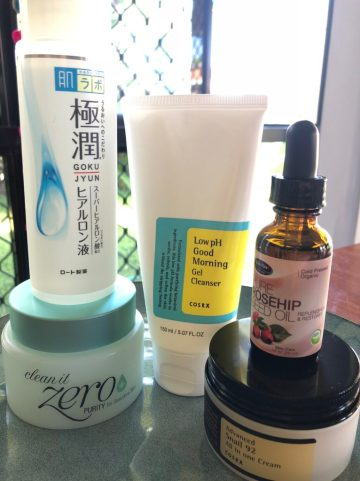 simple 5 step korean skincare routine double cleansing snail cream low ph cleanser