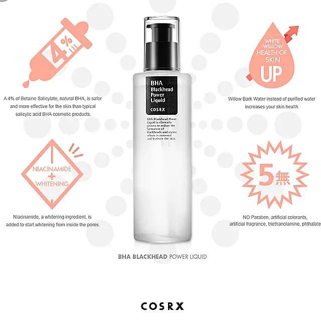 best korean skincare products for oily acne prone skin cosrx bha blackhead power liquid