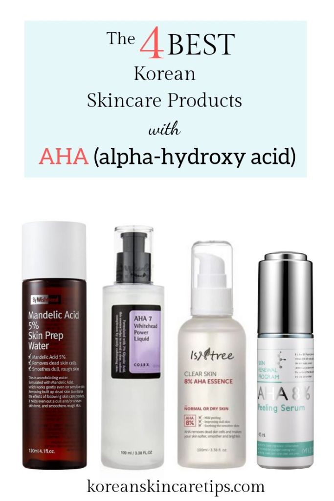 best korean skincare products with aha glycolic acid mandelic acid lactic acid benefits for skin