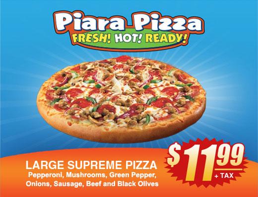 Piara Pizza: Large Supreme