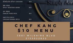 Chef Kang 10 Menu