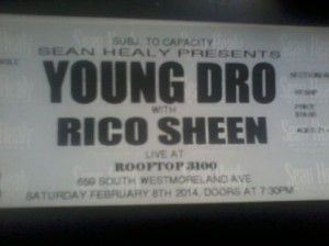 Young Dro with Rico Sheen at Rooftop 3100