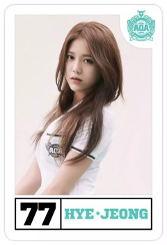 #77, Hyejeong the vocalist.
