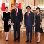 スペイン国王夫妻・安倍総理と会談夕食会へ  晩餐会画像追加