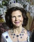 スウェーデン王室ノーベル賞翌日の晩餐会 ティアラ・ドレス目の保養