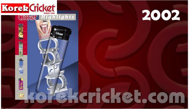 Sejarah korek api gas merek Cricket 2002