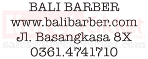 Logo Customer korek cricket Bali Barber