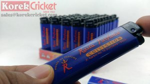 Korek Cricket warna body biru Sablon logo Rasta Parfume
