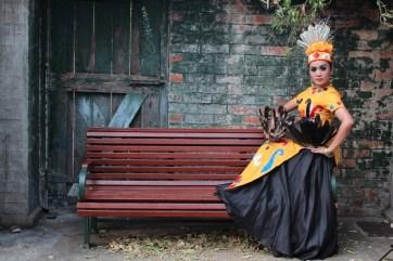 Indonesian dancer preparing to perform, Brisbane, 2012.