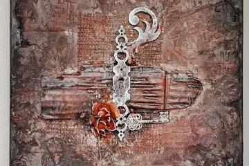 Powertex mixed media canvas by Kore Sage