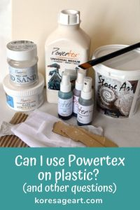 Pinterest pin Can I use Powertex on plastic and other questions