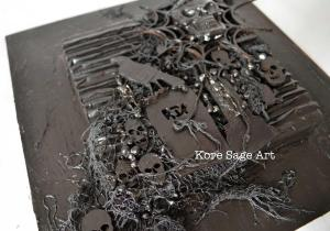 Use Black Powertex to paint, glue and harden materials