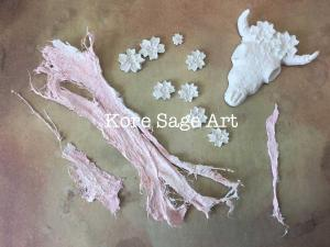 Paperdecoration ad Stone art clay pieces