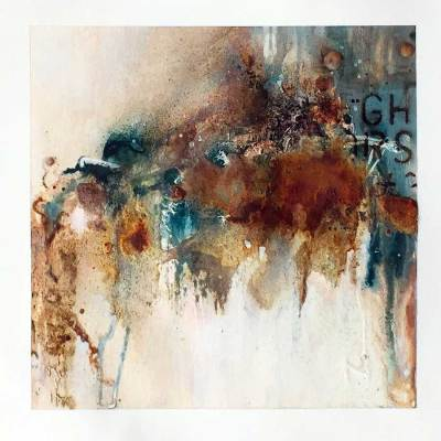 Blue Bister and Rust art by Kore Sage from Rusty landscapes series
