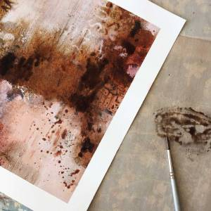 Create unique rust and Bister mixed media art
