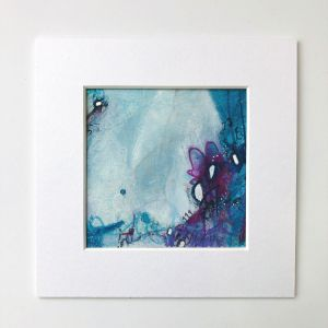 Glow by Kore Sage artwork on paper in a white mount