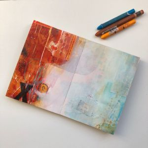 Handmade art book and journal by Kore Sage Art featured on the blog