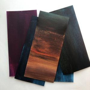 Colour mixing swatches for new work August 2021
