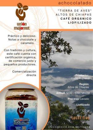 Café Majomut Instantaneo Leofilizado, Datos