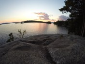 View of Students Island at sunset.