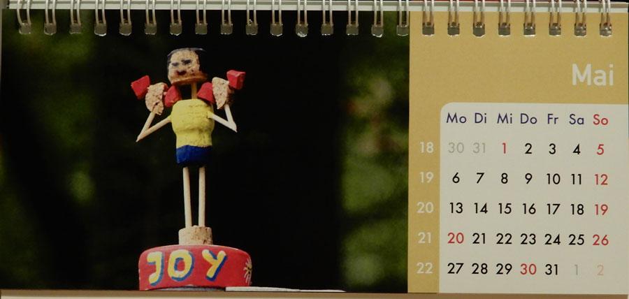 Korkmännchen Kalender 2019 Mai