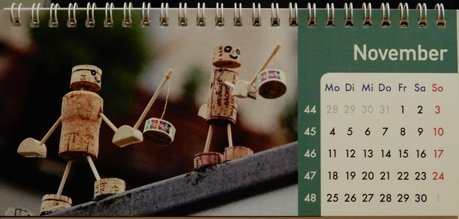 Korkmännchen Kalender 2019 November