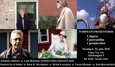 5 digtere, 1 fest, torsdag den 24. juni i København