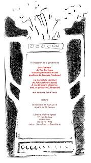 Tonight in Paris: Ted Berrigan & Joe Brainard
