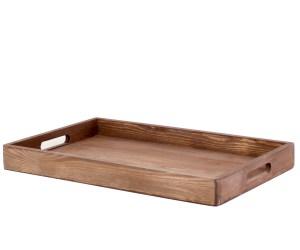 Поднос деревянный для еды и посуды