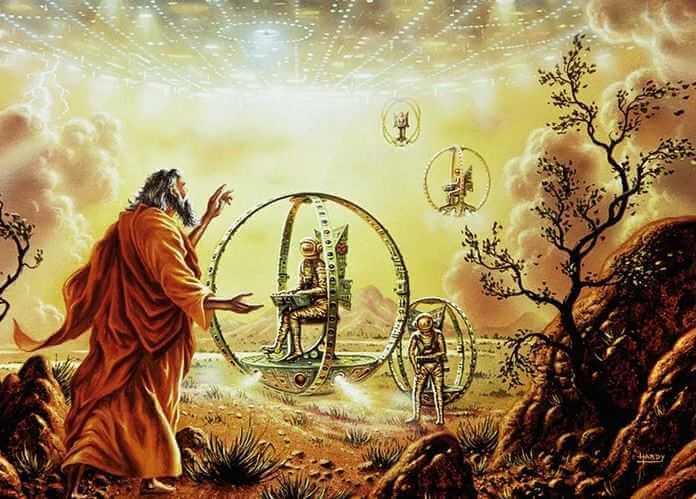 В библии есть упоминания об НЛО.